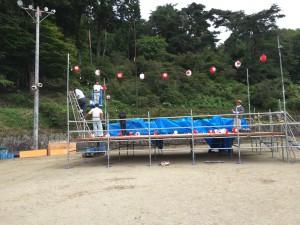 今年は舞台の位置が山側になります