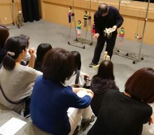 日本の伝統的な糸操りの構造を説明させていただきました