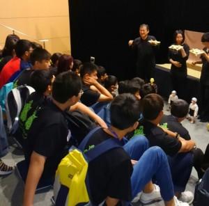 台湾鹿港中学校の皆さんは自分たちの公演前に寄ってくれました